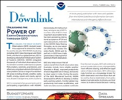 The Downlink, NOAA Satellite and Information Service International and Interagency Affairs Division's Bi-annual Newsletter